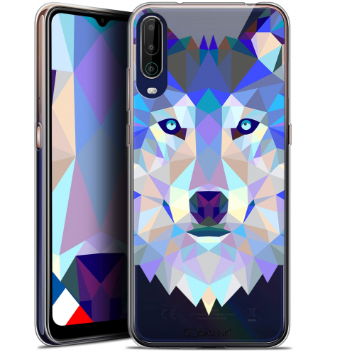 """Coque Gel Wiko View 4 (6.5"""") Polygon Animals - Loup"""