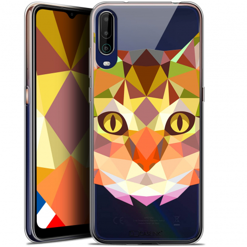 """Coque Gel Wiko View 4 (6.5"""") Polygon Animals - Chat"""