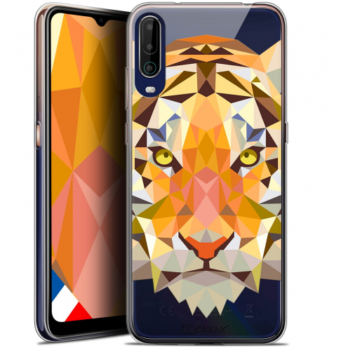 "Coque Gel Wiko View 4 (6.5"") Polygon Animals - Tigre"
