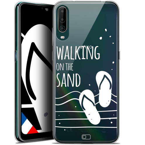 """Coque Gel Wiko View 4 (6.5"""") Summer - Walking on the Sand"""