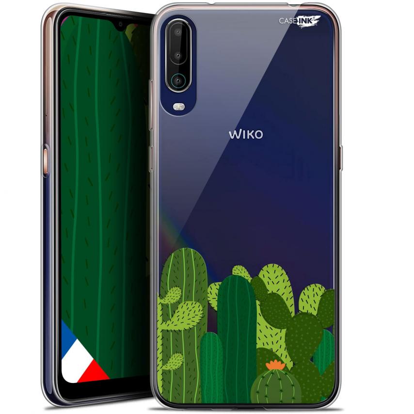 """Coque Gel Wiko View 4 (6.5"""") Motif - Cactus"""