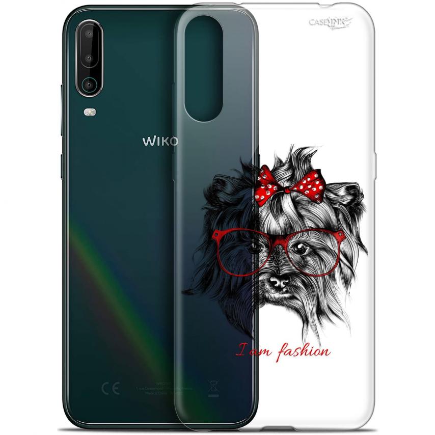 """Coque Gel Wiko View 4 (6.5"""") Motif - Fashion Dog"""