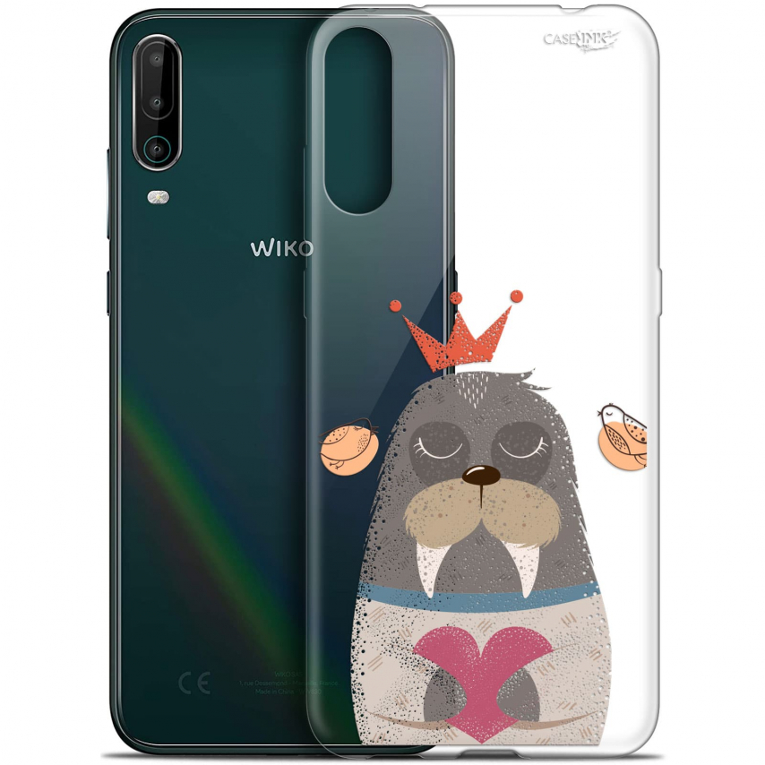 """Coque Gel Wiko View 4 (6.5"""") Motif - Sketchy Walrus"""