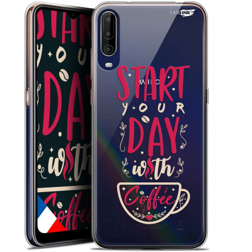 """Coque Gel Wiko View 4 (6.5"""") Motif - Start With Coffee"""