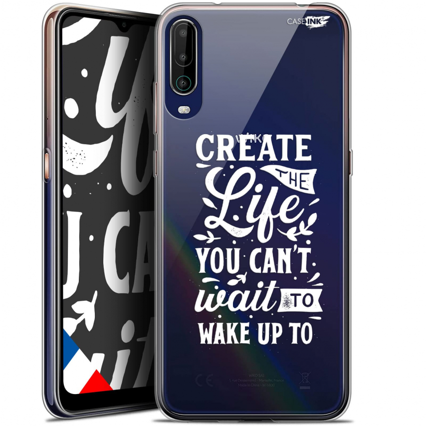 """Coque Gel Wiko View 4 (6.5"""") Motif - Wake Up Your Life"""
