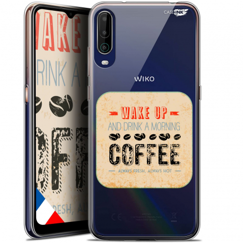 "Coque Gel Wiko View 4 (6.5"") Motif - Wake Up With Coffee"