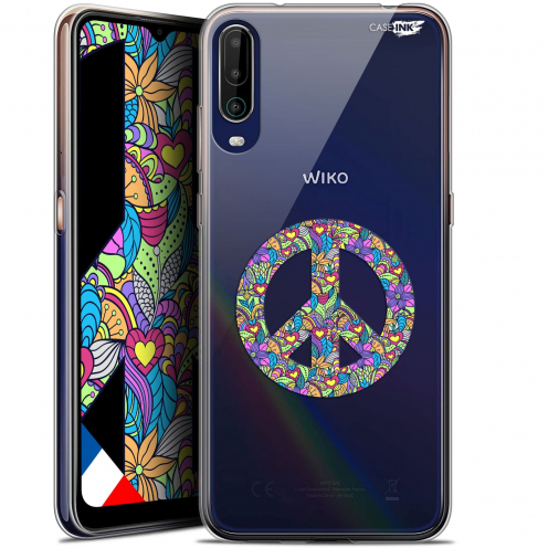 "Coque Gel Wiko View 4 (6.5"") Motif - Peace And Love"