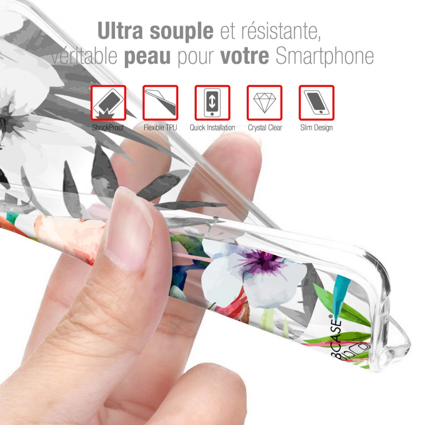 """Coque Gel Wiko View 4 (6.5"""") Motif - Peace And Love"""