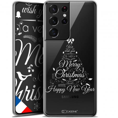 """Coque Gel Samsung Galaxy S21 Ultra (6.8"""") Noël - Calligraphie"""