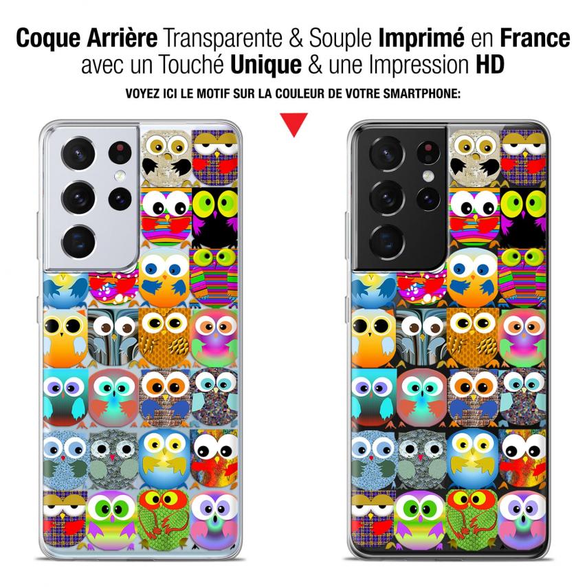 "Coque Gel Samsung Galaxy S21 Ultra (6.8"") Claude - Hibous"