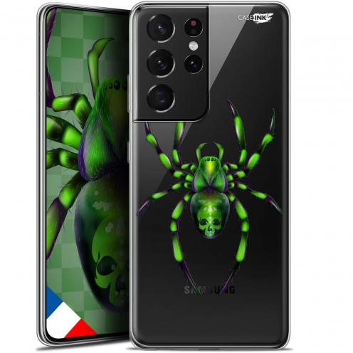"Coque Gel Samsung Galaxy S21 Ultra (6.8"") Motif - Arraignée Verte"