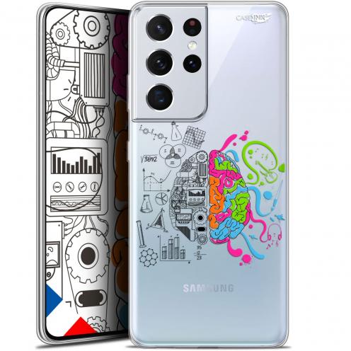 "Coque Gel Samsung Galaxy S21 Ultra (6.8"") Motif - Le Cerveau"