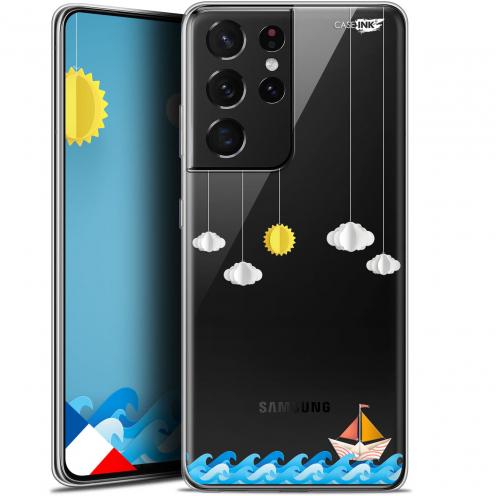 "Coque Gel Samsung Galaxy S21 Ultra (6.8"") Motif - Petit Bateau en Mer"