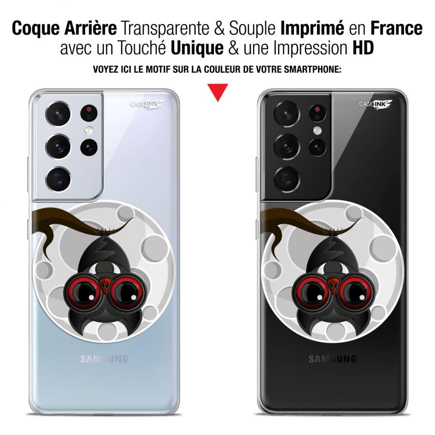 "Coque Gel Samsung Galaxy S21 Ultra (6.8"") Motif - Petit Vampire"