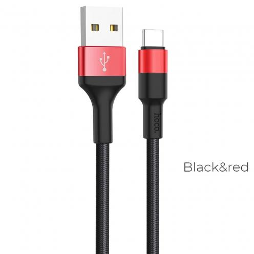 Hoco® Câble Xpress Charge & Sync pour Type-C X26 Noir-Rouge