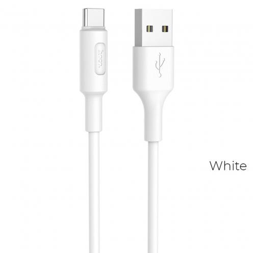 Hoco® Câble USB Soarer Charge & Sync pour Type C X25 Blanc