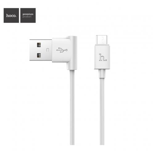 Hoco® Câble USB L shape Charge & Sync pour Micro UPM10 1 M Blanc