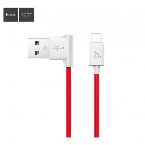 Hoco® Câble USB L shape Charge & Sync pour Micro UPM10 1 M Rouge