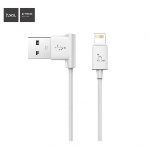 Hoco® Câble USB L shape Charge & Sync pour iPhone Lightning 8-pin UPL11 M Blanc