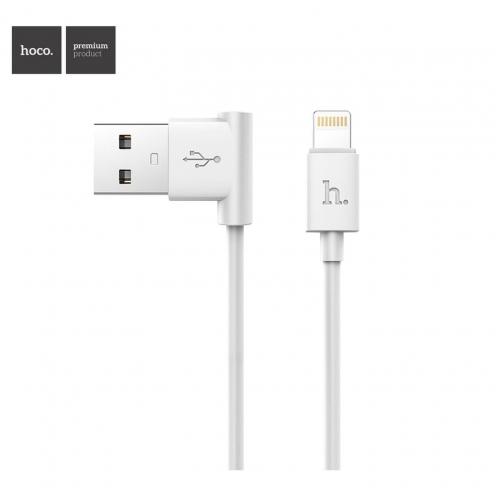 Hoco® Câble USB L shape Charge & Sync pour iPhone Lightning 8-pin UPL11 M Blanc