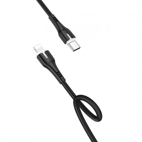 Hoco® Câble Type C to iPhone Lightning 8-pin Surplus Power Delivery 18W X45 1 M Noir
