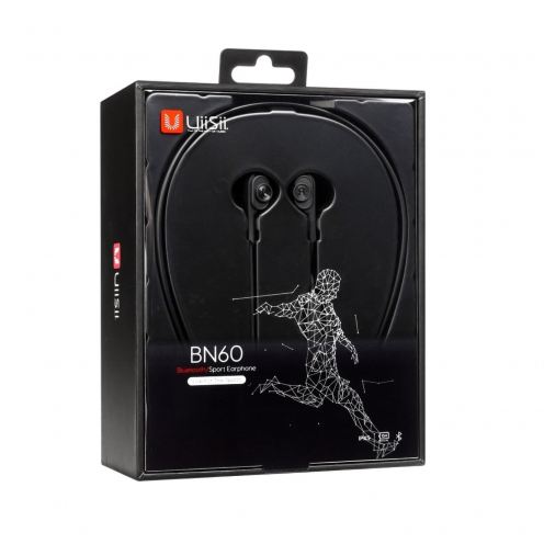 Ecouteurs Stéréo Bluetooth Dual Dynamic Driver UiiSii® BN60 Noir
