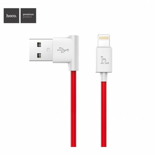Hoco® Câble USB L shape Charge & Sync pour iPhone Lightning 8-pin UPL11 M Rouge