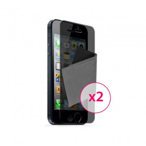 Films de protection Privacy Anti-Reflet iPhone 5 / 5S / SE Clubcase ® Lot de 2