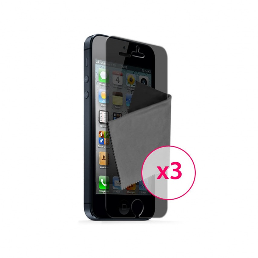 Zoom sur Films de protection Privacy Anti-Reflet iPhone 5 Clubcase ® Lot de 3