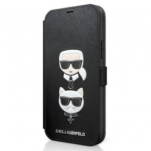Coque Karl Lagerfeld® KLFLBKP12SSAKICKCBK iPhone 12 mini Noir