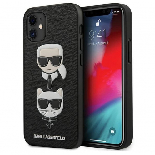Coque Karl Lagerfeld® KLHCP12SSAKICKCBK iPhone 12 MINI Noir