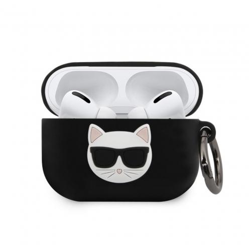 Coque Karl Lagerfeld® KLACAPSILCHBK Apple Airpods Pro Noir
