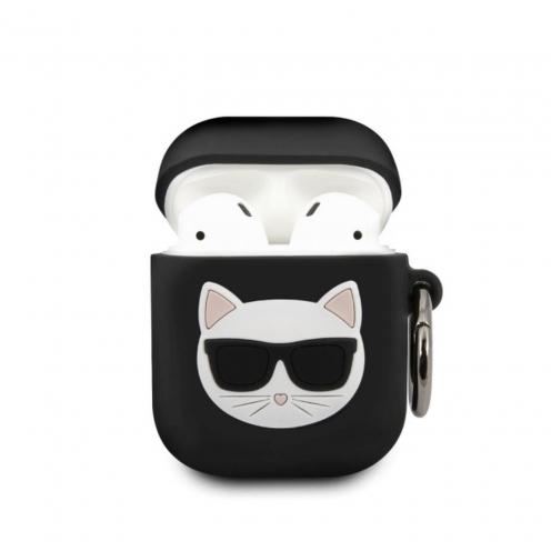 Coque Karl Lagerfeld® KLACA2SILCHBK Apple Airpods Noir