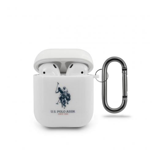 Coque US Polo® USACA2TPUWH Apple Airpods white