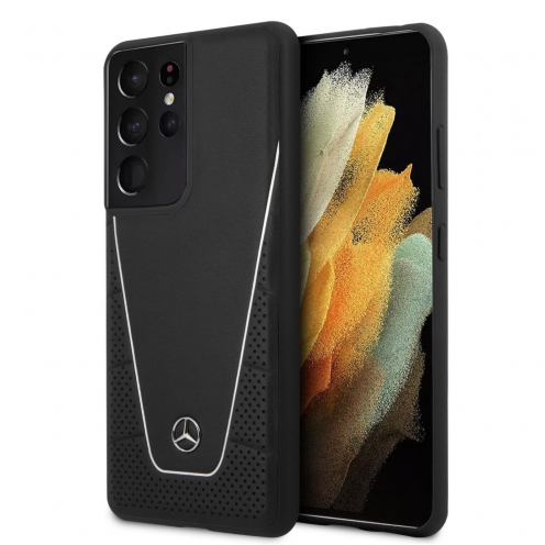 Coque Mercedes® MEHCS21LCLSSI Samsung S21 Ultra Noir