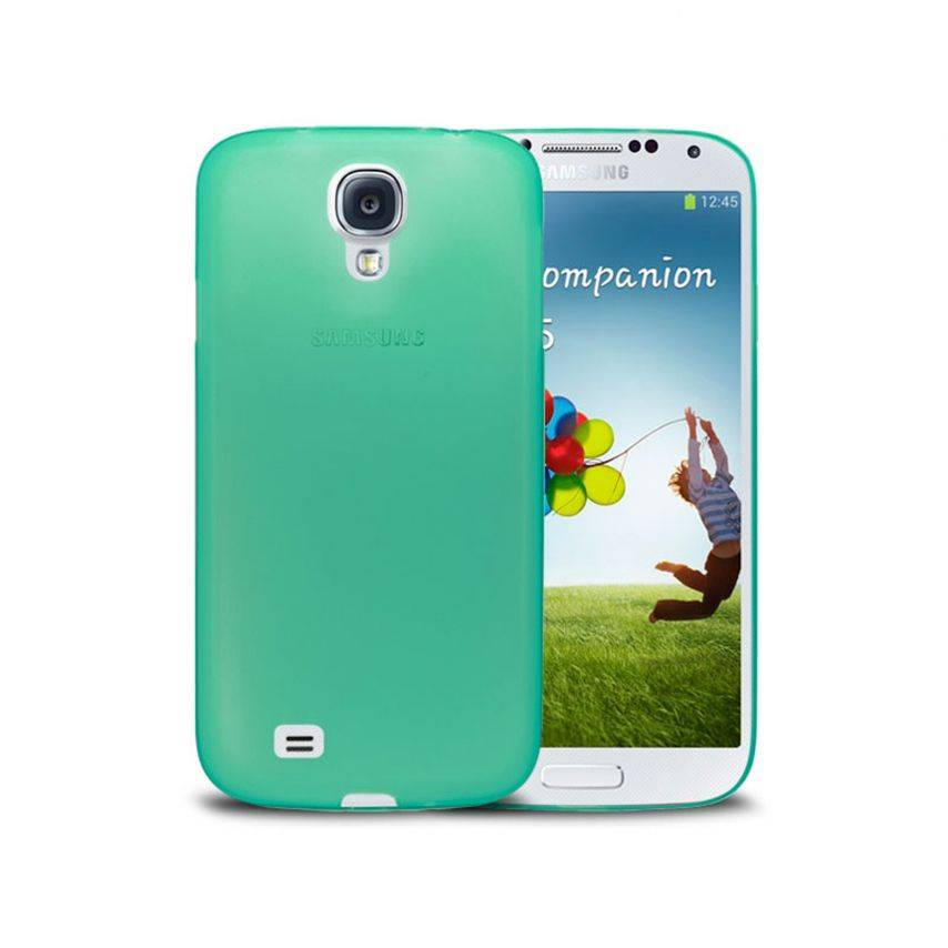 Photo réelle de Coque Ultra Fine 0.3mm Frost Samsung Galaxy S4 Verte