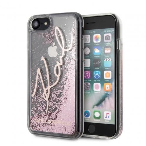 Coque Karl Lagerfeld® KLHCI8TRKSRG iPhone 7/8 Plus transparent Rose