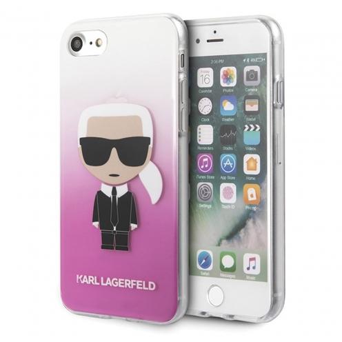 Coque Karl Lagerfeld® KLHCI8TRDFKPI iPhone 7/8 Plus transparent Rose