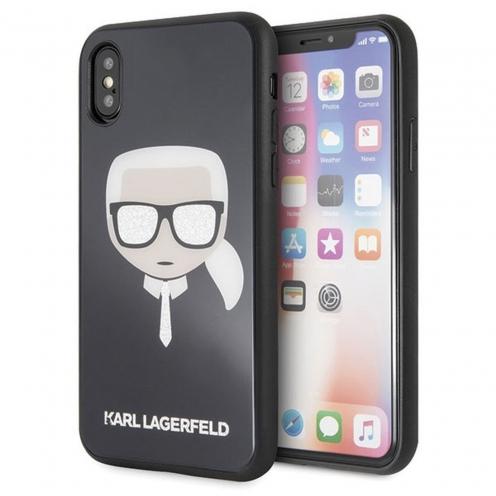 Coque Karl Lagerfeld® KLHCPXDLHBK iPhone X Noir