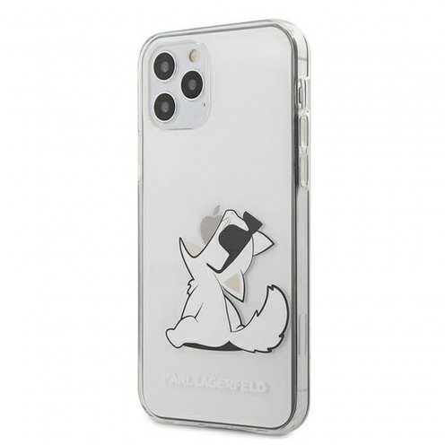 Coque Karl Lagerfeld® KLHCP12MCFNRC iPhone 12 / 12 PRO transparent