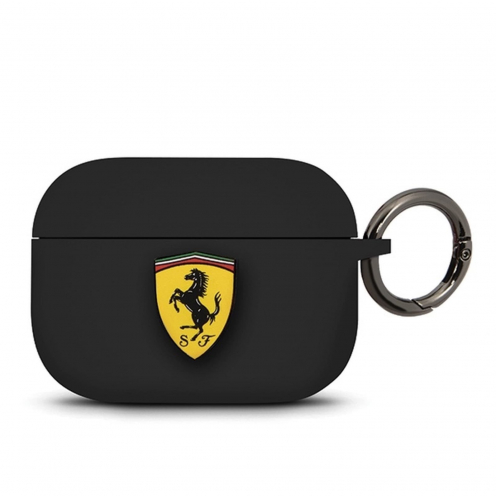 Coque Ferrari® FEACAPSILGLBK Apple Airpods Pro Noir