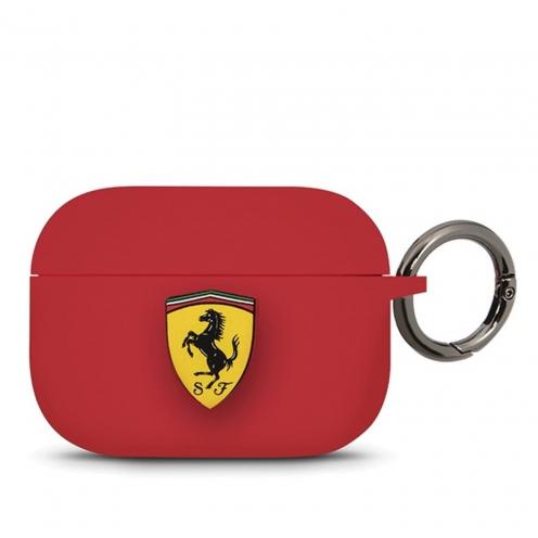 Coque Ferrari® FEACAPSILGLRE Apple Airpods Pro Rouge