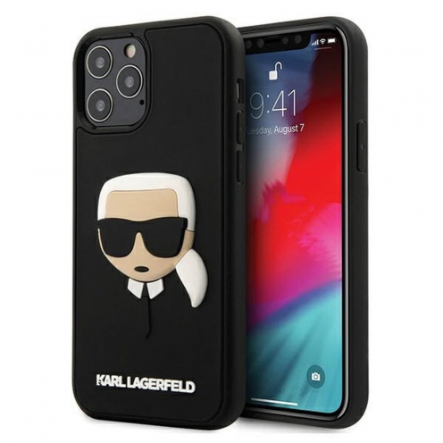 Coque Karl Lagerfeld® KLHCP12LKH3DBK iPhone 12 PRO MAX Noir