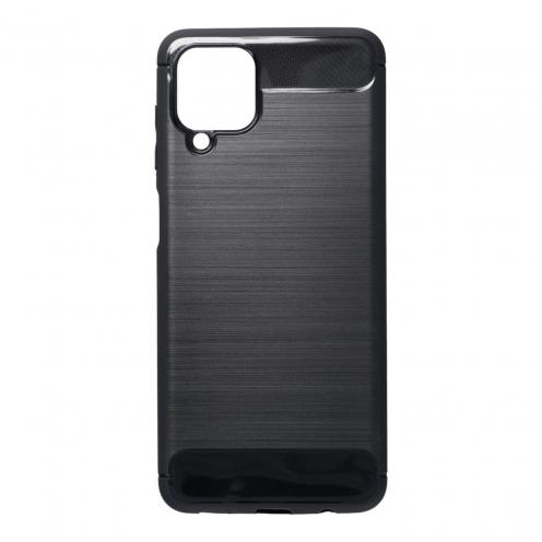 Forcell CARBON Coque Pour Samsung Galaxy A12 Noir