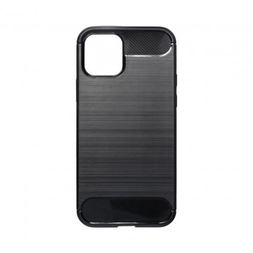 Forcell CARBON Coque Pour iPhone 12 / 12 PRO Noir