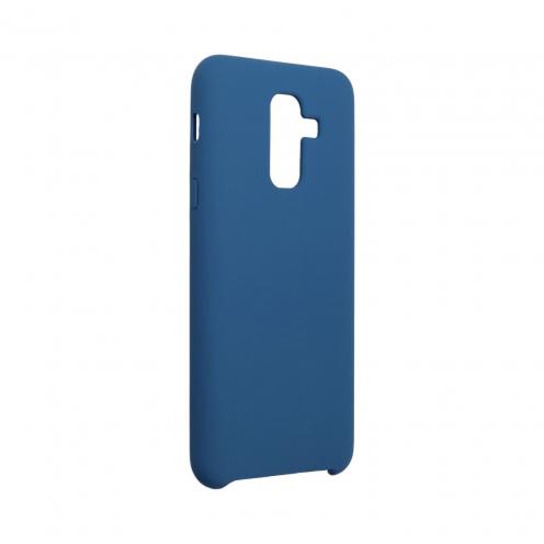 Forcell Silicone Coque Pour Samsung Galaxy A6 Plus 2018 Bleu Marine