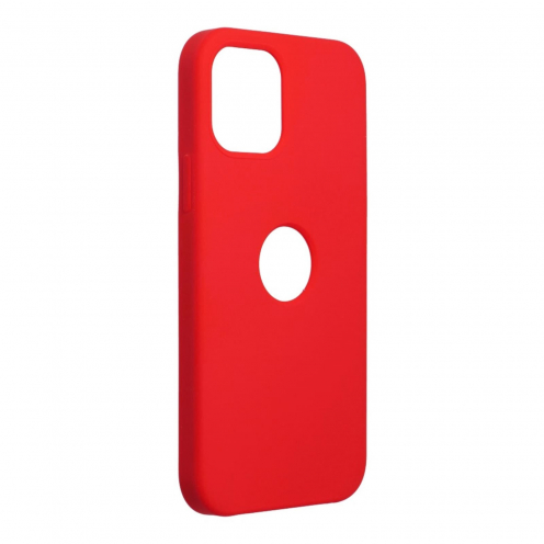 Forcell Silicone Coque Pour iPhone 12 / 12 PRO Rouge (Avec Trou)