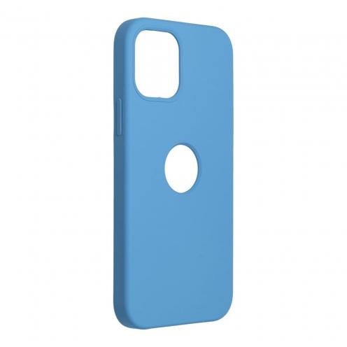 Forcell Silicone Coque Pour iPhone 12 / 12 PRO Bleu Marine (Avec Trou)