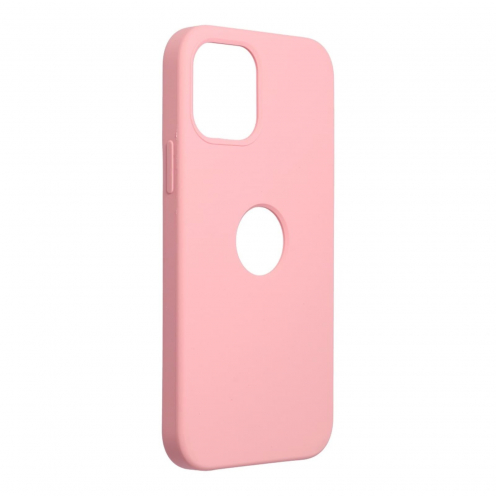 Forcell Silicone Coque Pour iPhone 12 / 12 PRO Rose (Avec Trou)