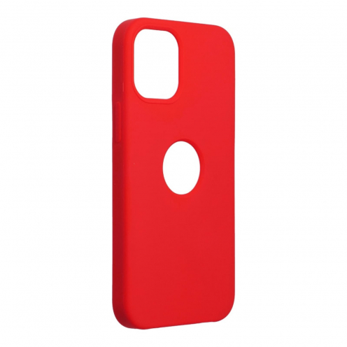 Forcell Silicone Coque Pour iPhone 12 MINI Rouge (Avec Trou)